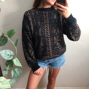 VTG knit pullover crewneck